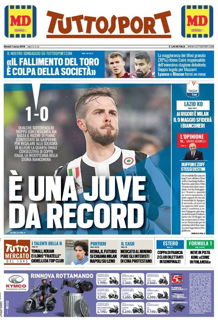 Tuttosport Juve record