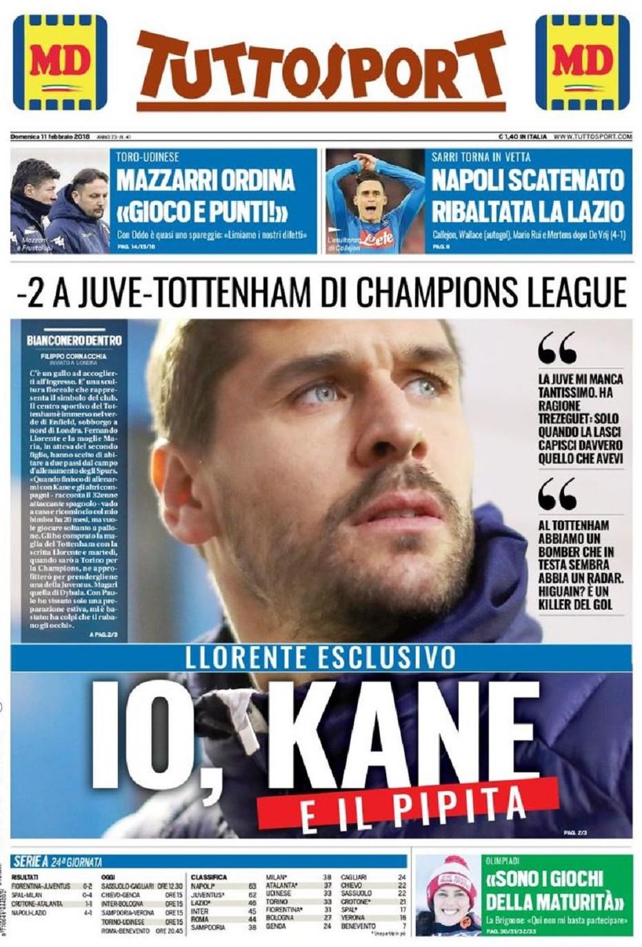 Tuttosport Kane