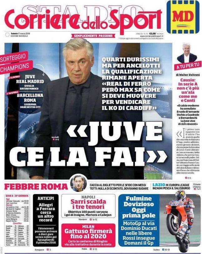 Corriere Sport Ancelotti