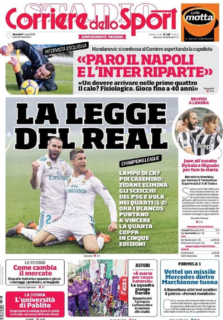 Corriere Sport Psg