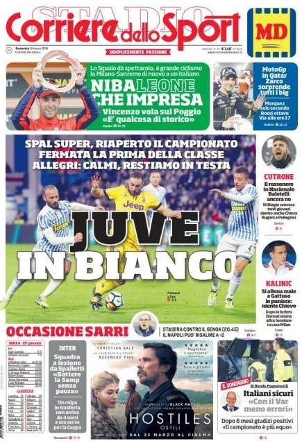 corriere Juve in bianco