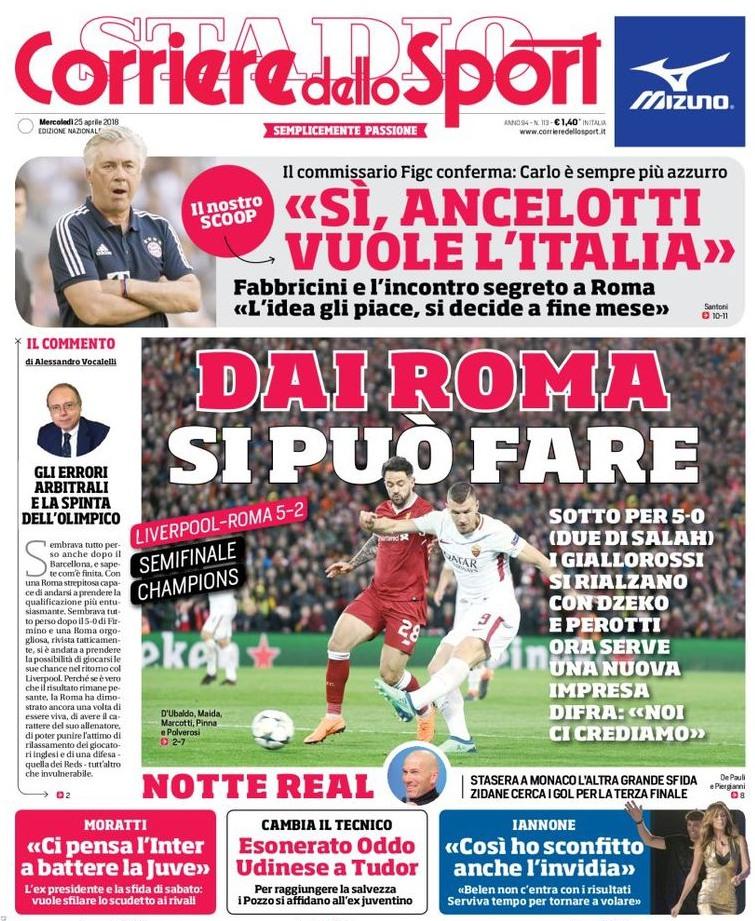 Corriere dello Sport Dai Roma si può fare
