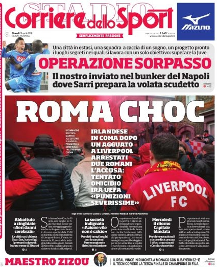 Corriere roma choc