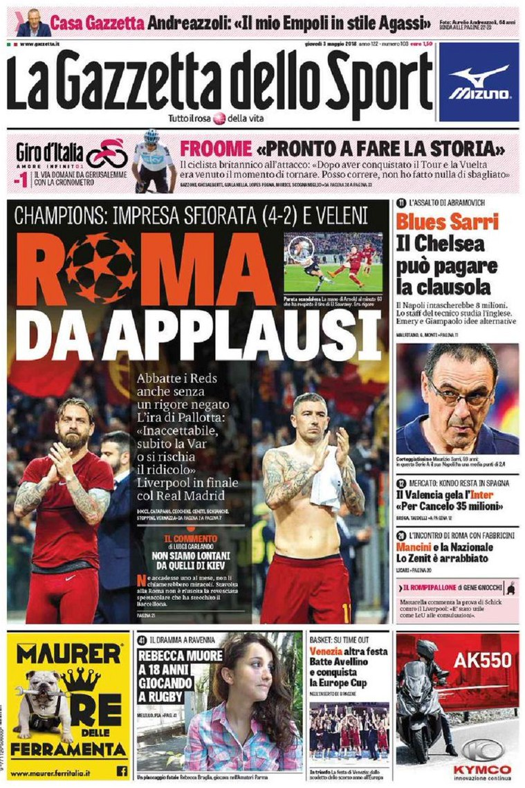 Gazzetta applausi