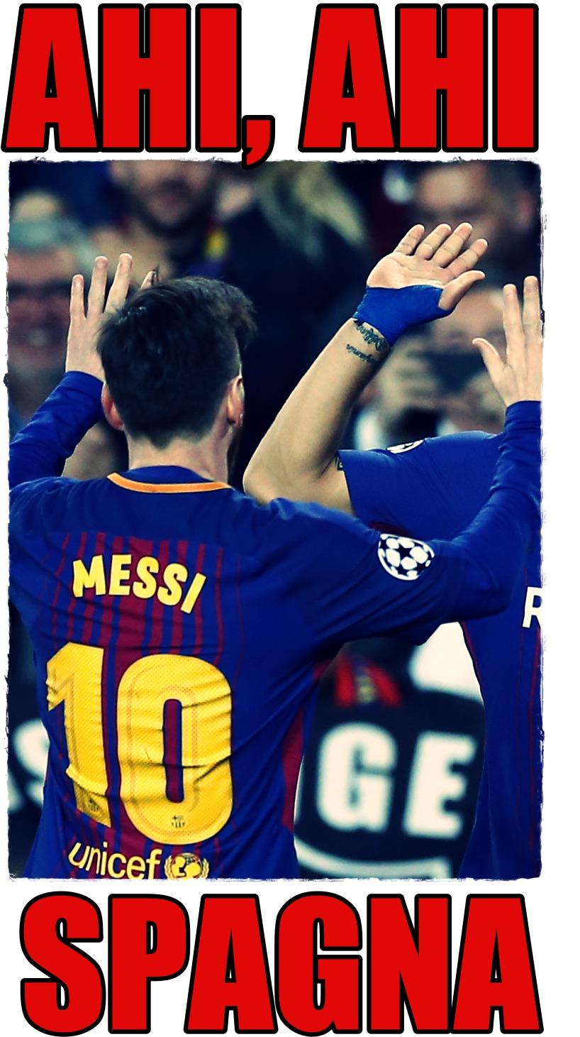 Luis Suarez, Lionel Messi,