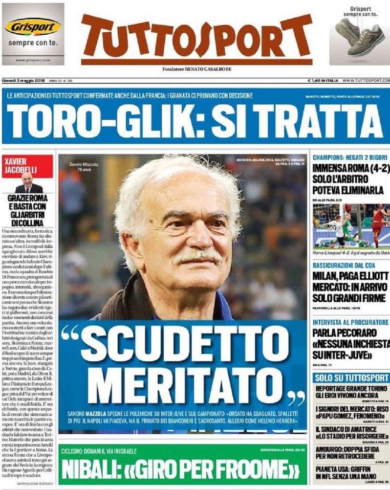 Tuttosport Toro Glik