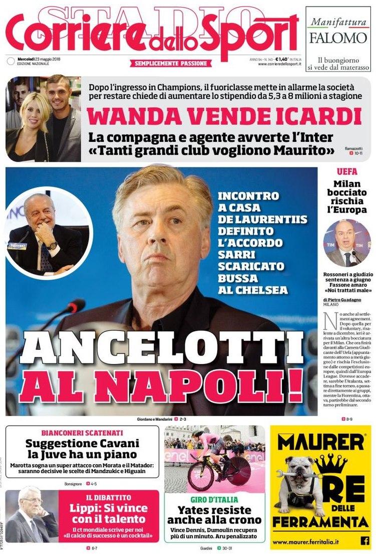 Corriere Napoli ancelotti