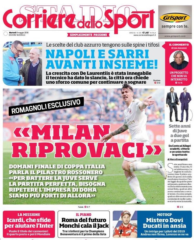 Corriere Sport Napoli e Sarri