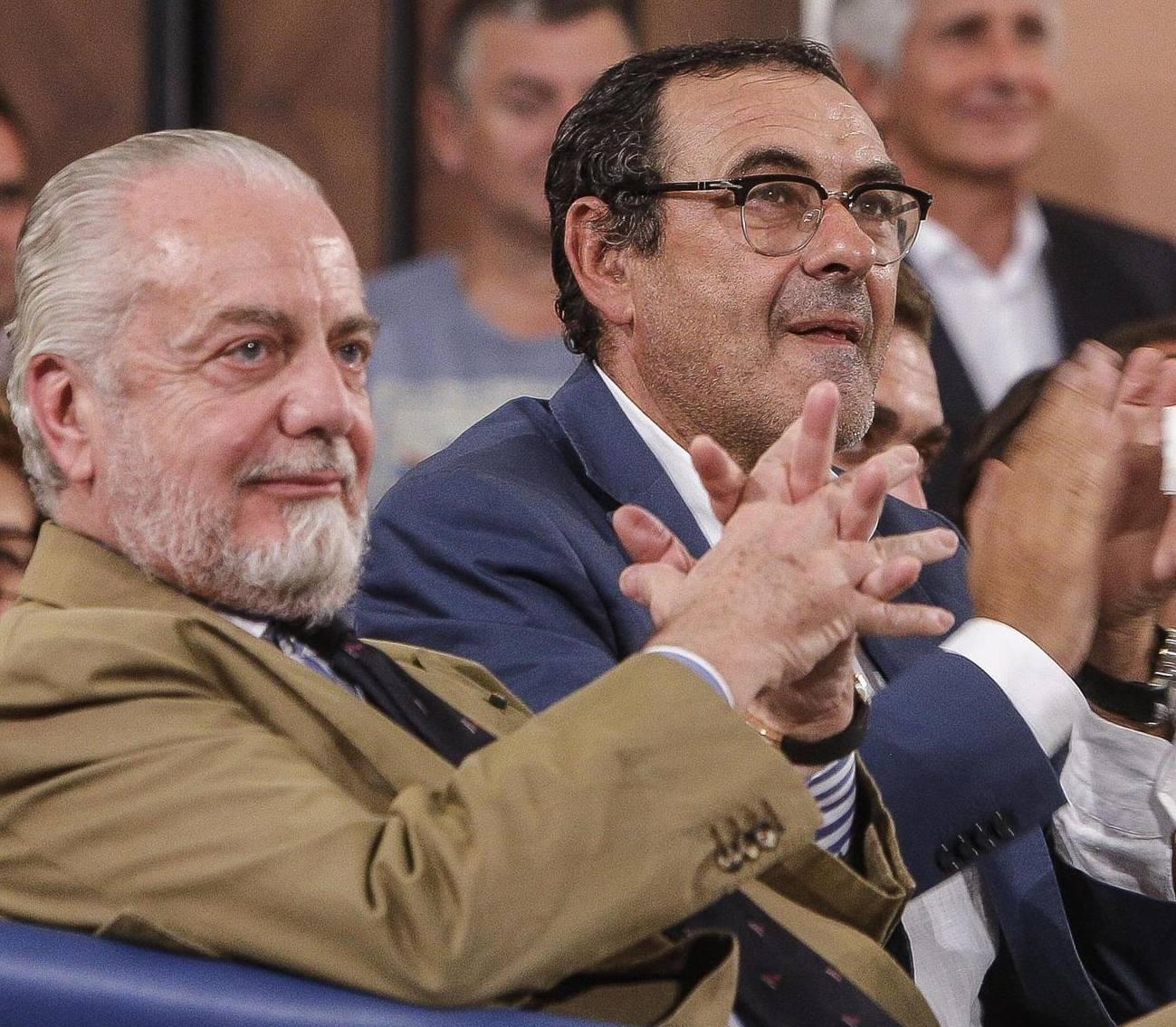 De Laurentiis e Sarri