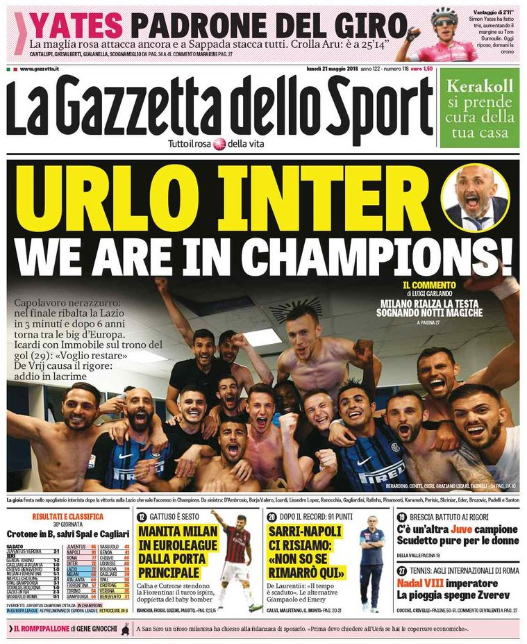 Gazetta Urlo Inter