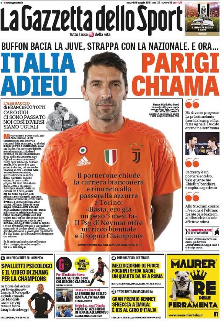 Gazzetta Buffon adieu