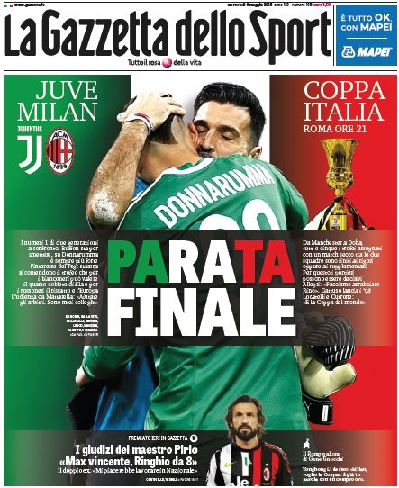 Gazzetta parata finale
