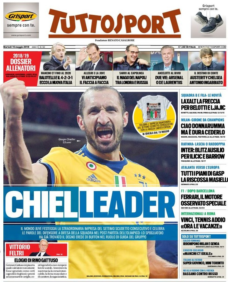 Tuttosport Chiellini