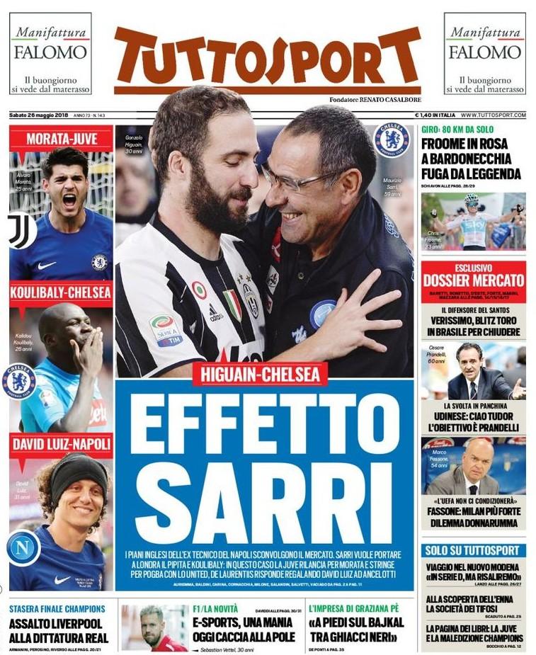 Tuttosport effetto Sarri