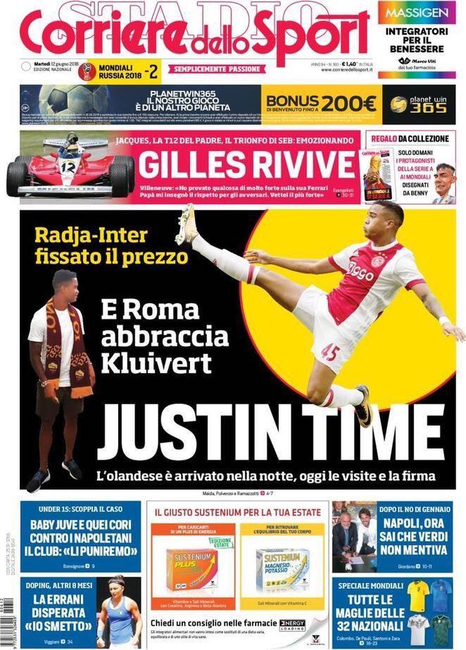 Corriere Sport Kluivert