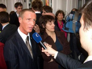 09.03.01 11 Klagenfurt, elezioni regionali; Stefan Petzner