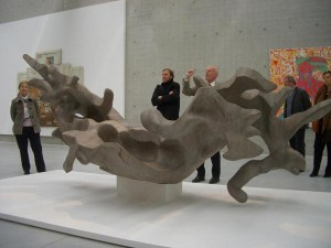 11.04.14 16 Neuhaus, Museum Liaunig; scultura in legno di Peter Dörflinger