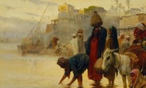12.06.11 Charles Wilda, Lavandaie sul Nilo (Belvedere, Vienna)