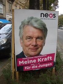 13.09.29 15 Vienna, manifesti elettorali; Hans Peter Haselsteiner (Neos)