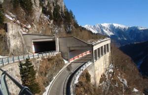 13.11.16 Strada passo Monte Croce Carnico (versante italiano)