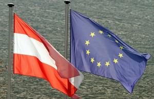 14.05.25 Bandiere Austria e Unione Europea