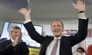 14.05.25 Vienna, sede VP, Othmar Karas e Michael Spindelegger