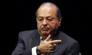 Mexican billionaire Carlos Slim addresses the audience during an event of the Fundacion Telmex Mexico Siglo XXI in Mexico City
