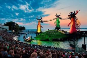 14.08.10 Bregenz, palcoscenico dei Bregenzer Festspiele sul Bodensee - Copia
