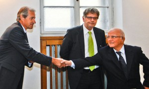 15.01.14 Josef Martinz stringe la mano a Dietrich Birnbacher