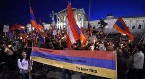 15.04.24 Vienna, marcia per centenario genocidio armeni