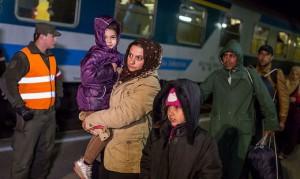 15.10.22 Stazione di Rosenbach (Carinzia), profughi in arrivo da Slovenia