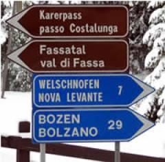 17.03.06 Sud Tirolo, Alto Adige; segnaletica bilingue