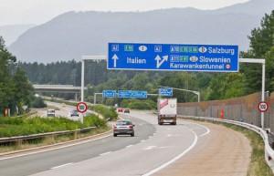 17.03.14 Autostrada A2 (Carinzia), snodo di Villach