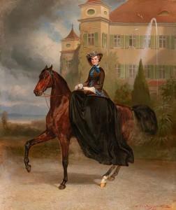 17.04.27 Vienna, asta Dorotheum, quadro di Sissi (Elisabetta d'Austria) copia