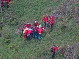 17.06.07 Eisenerzer Reichenstein, soccorso alpinisti precipitati 1 - Copia