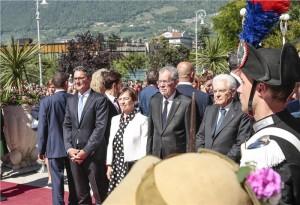 17.06.11 Merano, Arno Kompatscher, Alexander Van der Bellen con moglie, Sergio Mattarella