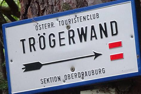 17.06.18 Oberdrauburg, cartello sentiero Trögerwand