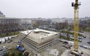 17.07.16 Vienna, prefabbricato provvisorio per uffici Parlamento - Copia