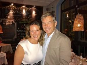 17.07.27 Milano, ristorante Pisco; Michael Strasser con moglie Cristina