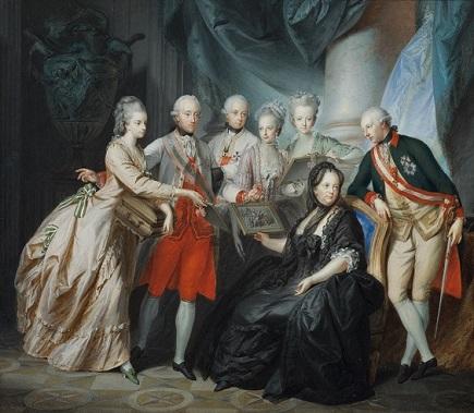17.08.04 Maria Teresa con figli (tela di Friedrich Heinrich Füger) - Copia