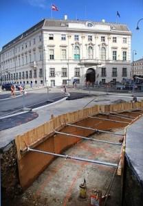 17.09.06 Vienna, barriera in costruzione nella Ballhausplatz - Copia