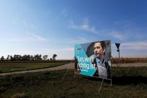 17.10.13 Manifesto elettorale Kurz vicino a Zisterdorf