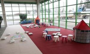 17.12.22 Baumax Halle, centro di accoglienza profughi, angolo per bambini
