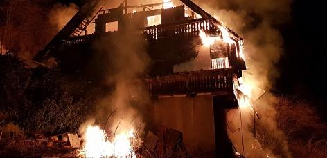 17.12.27 Graden bei Köflach, incendio casa 1