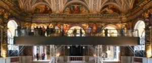 12.04.24 Vienna, Kunsthistorisches Museum, ponteggio sotto affreschi Klimt
