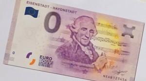18.04.06 Eisenstadt, banconota da 0 euro dedicata a Haydn