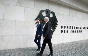 18.06.14 Berlino, ministero interni, Sebastian Kurz, Horst Seehofer - Copia