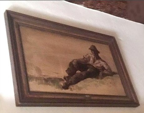 18.07.14 Innsbruck, quadro Hitler nel ristorante Weißes Rössl xx