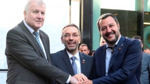 Germany's Seehofer, Italy's Salvini and Austria's Kickl attend a trilateral meeting in Innsbruck