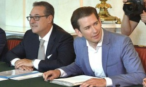 18.08.26 Heinz-Christian Strache e Sebastian Kurz, primo consiglio ministri dopo ferie